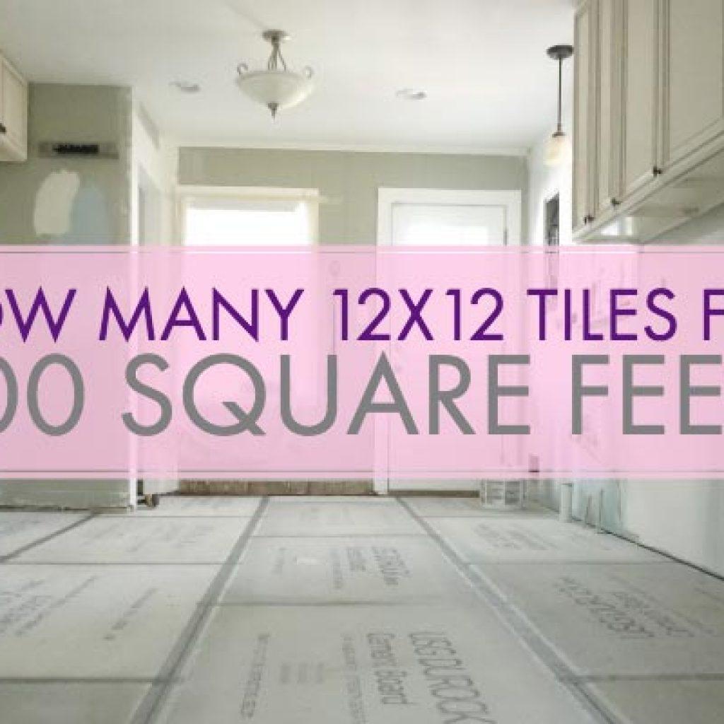 12x12 Tiles For 100 Square Feet