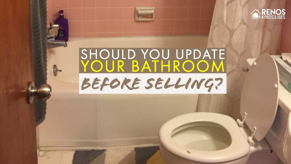 old bathroom with pink tile around tub and old toilet