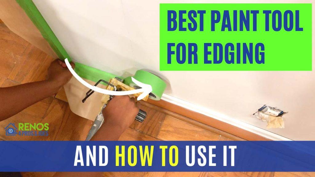 Man using professional paint edging tool